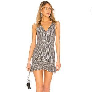 NWT NBD Salt Shake Mini Dress Black &Silver Size S